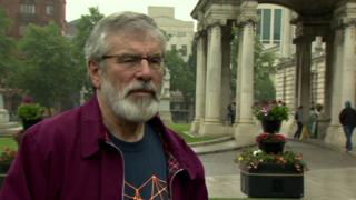 Gerry Adams said an agreement was unlikely by Monday