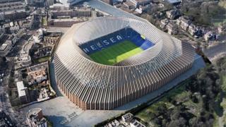 نمایی از طرح پیشنهادی استادیوم جدید چلسی