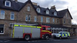 Police and fire at Carrbridge Hotel in Carrbridge