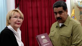 Luisa Ortega y Nicolás Maduro