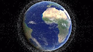 Космический мусор на орбите