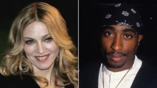 Tupac (R) and Madonna