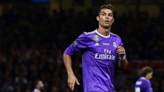 Christiano Ronaldo akicheza fainali za Champion League