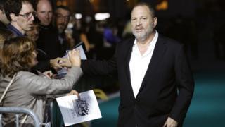 Image shows film producer Harvey Weinstein in September 2016