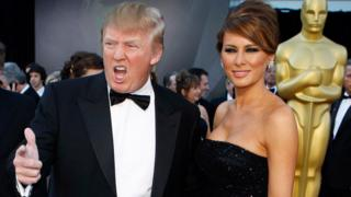 Donald and Melania Trump at the 2011 Oscars
