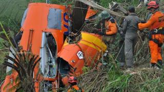 Le crash d'un hélicoptère de secours qui avait fait 8 morts le 2 juillet à Temanggung (illustration)