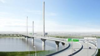 Artist's impression of Mersey Gateway bridge