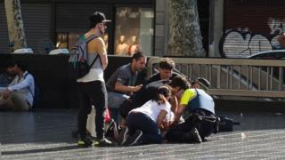Vítima de ataque em Barcelona