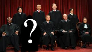 Photo illustration of Supreme Court