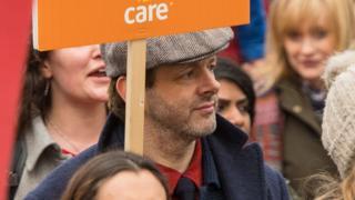 Michael Sheen at March4Women 2018 in London