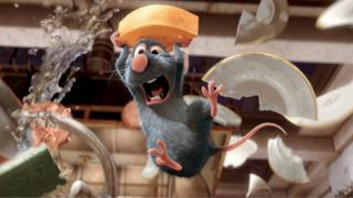 "This photo provided by Disney shows Remy (voiced by Patton Oswalt) in ""Ratatouille"