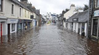 Newton Stewart during flooding