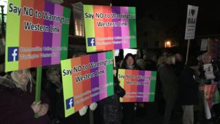 Protests against Warrington Western Link road