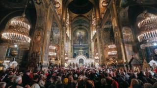 Богослужіння у Володимирському кафедральному соборі в Києві