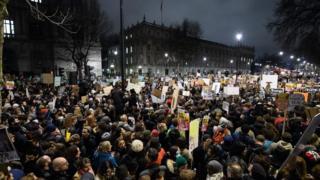 Londra protestp