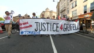 Hundreds of anti-austerity protesters marched through Bristol city centre