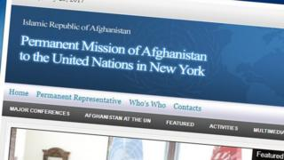 وبسایت نمایندگی افغانستان در سازمان ملل