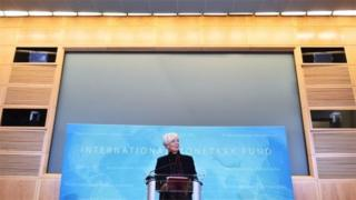 International Monetary Fund Managing Director Christine Lagarde speaks during a press conference at IMF headquarters in November.
