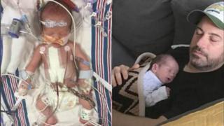 Kimmel divulgou fotos do filho após intervenção médica
