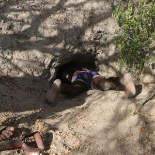 Zigwadzee heading down the porcupine hole