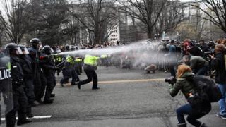 Enfrentamientos en Washington D.C.