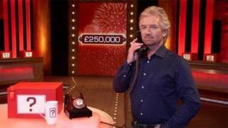 Noel Edmunds on the set of Deal or No Deal