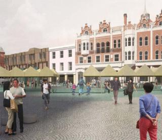 An artist's impression of what the Cornhill will look like