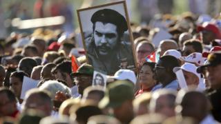 古巴民眾紀念切·格瓦拉去世50週年