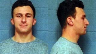 Mug shot of former Cleveland Browns quarterback Johnny Manziel