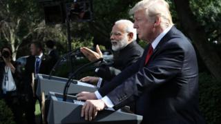د هند لومړی وزیر له ولسمشر ټرمپ سره خبرې غونډې ته وویل په افغانستان کې د ترهګرۍ له امله د بې ثباتۍ پراخیدل د نوي ډېلي او واشنګټن ګډه اندیښنه ده.