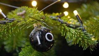 Bauble on Downing Street Christmas tree
