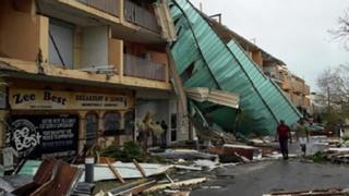 St Martin damaged from Hurricane Irma