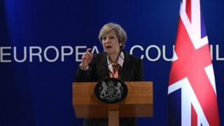 Theresa May in Brussels, 9 Mar 17