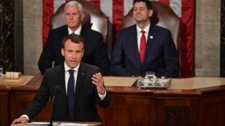 Emmanuel Macron in Congress