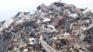 Waste at the Nantyglo site