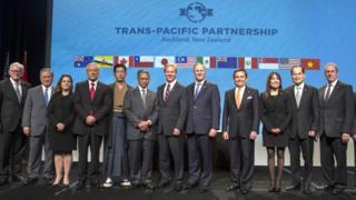 TPP协议签署现场(04/02/2016)