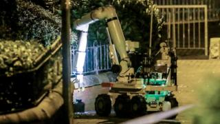 Robot removes bomb from outside Holy Cross primary school, Belfast
