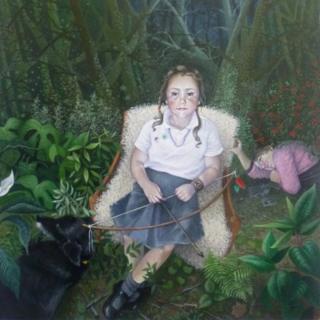 Portrait by Donna McGlynn entitled 'Artemis'