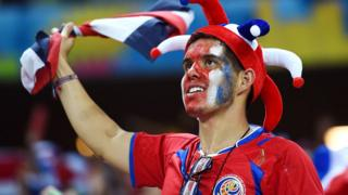 Fanático de fútbol de Costa Rica