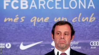 Aliyekuwa rais wa klabu ya Barcelona Sandro Rosell
