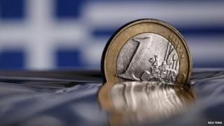 A one Euro coin is seen in this picture illustration taken in Rome, Italy