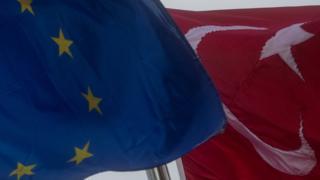 Флаг ЕС и Турции