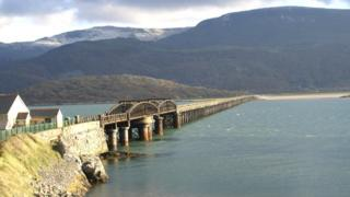 Barmouth viaduct and footbridge