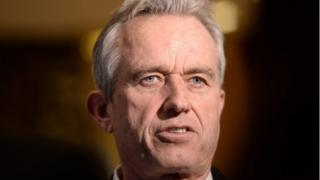 Robert F Kennedy Jr at Trump Tower in New York City.
