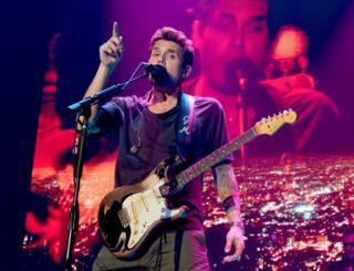 Musician John Mayer performs in California