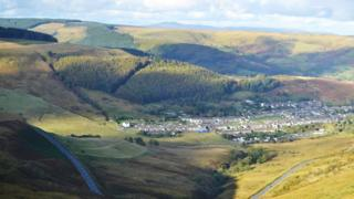 The view from Bwlch mountain road