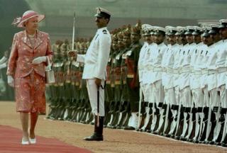 The Queen in India in 1997