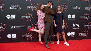 Georgie Henley, Jordan Stephens and Ella Purnell