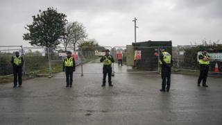 Police in Kirby Misperton