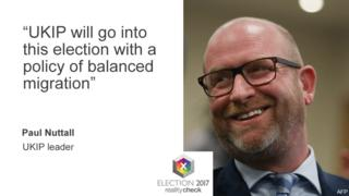 """UKIP leader Paul Nuttall: """"UKIP will go into this election with a policy of balanced migration."""""""